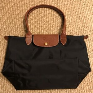 Longchamp Small Le Pliage Tote Black